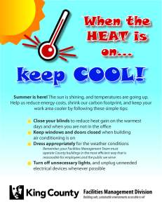 FMD Summer Heat Reminder Flyer