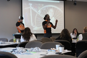 Representatives from the  Cascade Bicycle Alliance Education Foundation helped to inspire Ambassadors