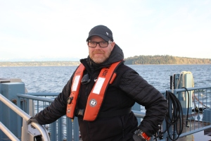 Deckhand Jay White has been with King County Water Taxi over 2 years. He admits