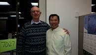 PACE Mentor, John Alley, on the left and Mentee, Zhixin (Jason) Huang, on the right