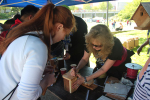 Attendees at the 2016 Women in Trades Fair had the opportunity to build a birdhouse, thanks to FMD