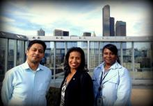 Pictured, left to right: Executive Customer Service Team Mauricio Martinez, Natasha Jones and Cheeketa Mabone.