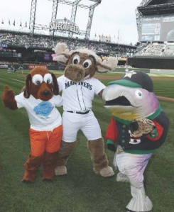 Puget Sound Starts Here mascots