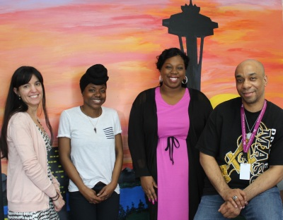 ROYAL program staff- From left are Ericka Turley-project manager_Myeah Gibson-youth development lead_ Jonisha Hall-case strategist_ John Hairston-case strategist_Not pictured Gregory Banks-case strategist