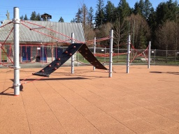 Cottage Lake playground after its renovation.