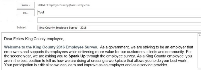 Email To Participate In  Employee Survey  Kc Employee News