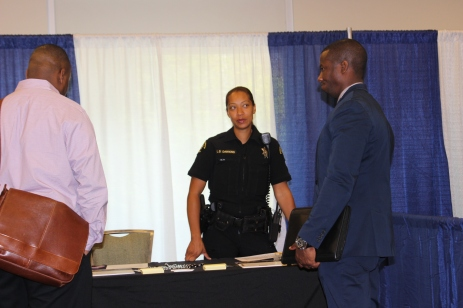 King County Sheriff's Office personnel spoke with interested people.