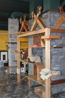 Cat climbing walls double as interesting decor.