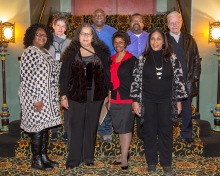 Pictured from left to right: Llonia Patterson, Kathryn Schipper, Paula Harris-White, Michael Hepburn, Rose Dotson, Al Sanders, Doreen Mitchum and Jim Kelly. Not pictured: Cheeketa Mabone, Heather Dwyer, Jackie Phillips and John Lewis.