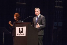 Pictured: The celebration was also opened by King County Executive Dow Constantine and featured the Seattle Women's Steel Pan Project.