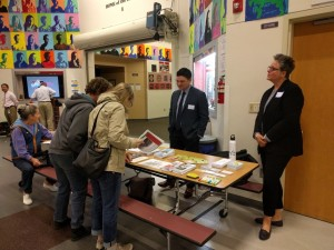 Leo Flor and Kelli Carroll staffed a DCHS table at the Fall City CSA meeting in 2016.