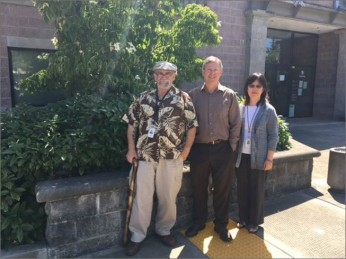 Pictured from Shoreline Courthouse: Left to right: Nick D'Angelo, Dave Sterner and Andrea Shao.