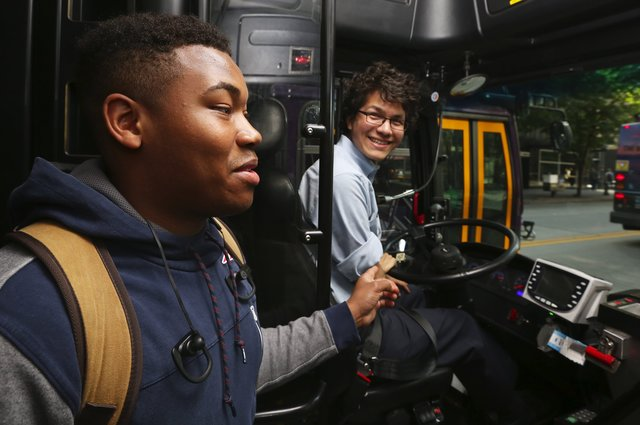 Metro Transit's Nathan Vass is committed to the challenging