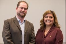 Pictured: From left, Dr. Roberto Dondisch-Glowinski and Transportation Planner Penny Lara.