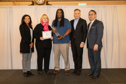 Pictured: Service Award winners, Missed Trip Reduction (Metro Transit)