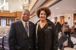 Pictured: Councilmember Larry Gossett with keynote speaker author Ijeoma Oluo.