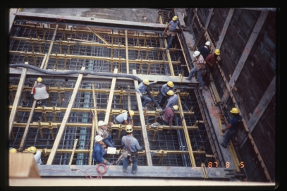 Tunnel station construction (Aug 5, 1987)