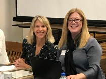 Pictured: Whitney Abrams, Chief People Officer, with KCIT Confidential Secretary Rhonda Mendel.